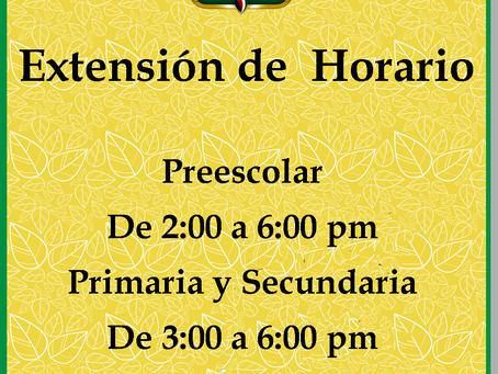 Extensión de Horario.