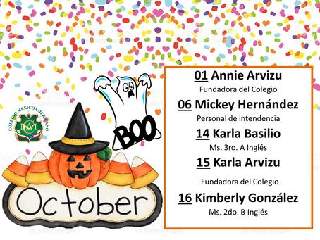Cumpleaños del Mes de Octubre