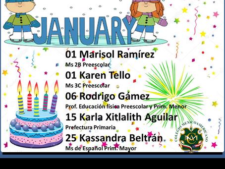 Cumpleaños mes de enero