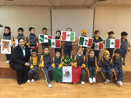 Asamblea Cívica Preescolar Día de La Bandera.