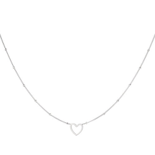 Halskette minimalistic open heart