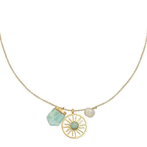 Halskette Sunshine Gemstone - Farbe wählbar