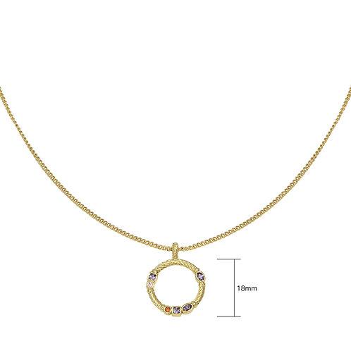 Halskette zirconia circle