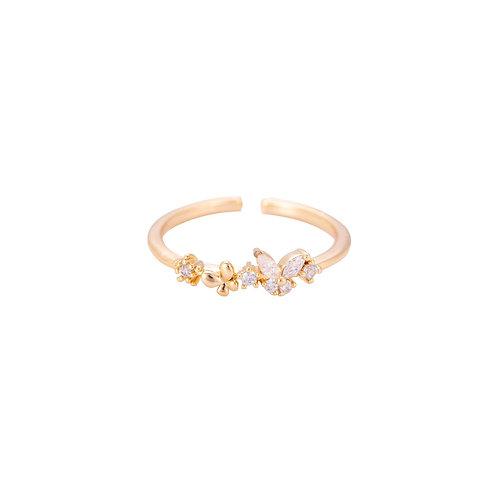 Ring butterfly 14k vergoldet