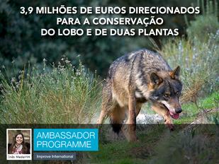3,9 milhões de euros direcionados para a conservação do lobo e de duas plantas