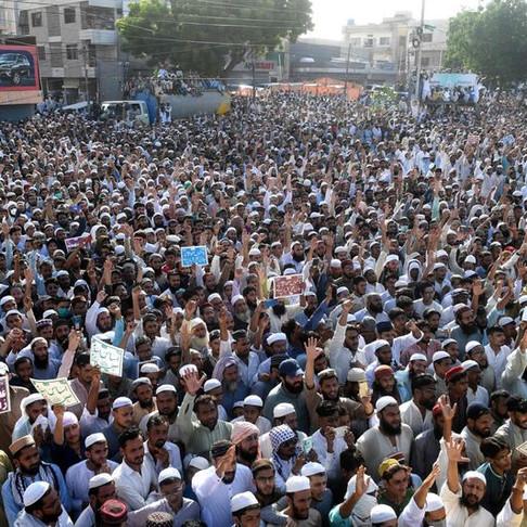 Protestos anti-xiitas no Paquistão