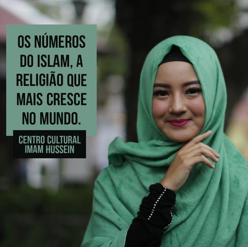 Os números do islam religião que mais cresce no mundo.