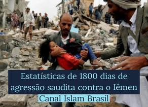 Estatísticas de 1800 dias de agressão saudita contra o Iêmen