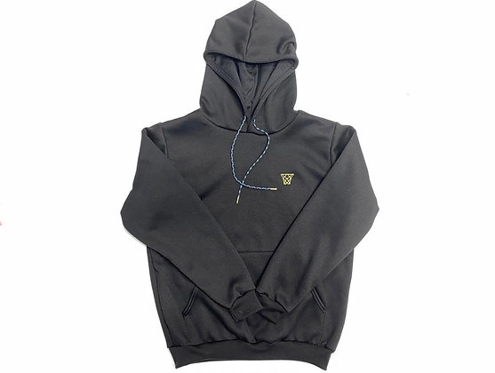 Gold Net Classic Left Chest Logo Hoodie