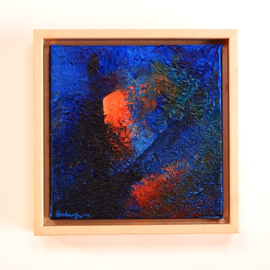 """Blue Glass Glow - 7"""" x 7"""""""