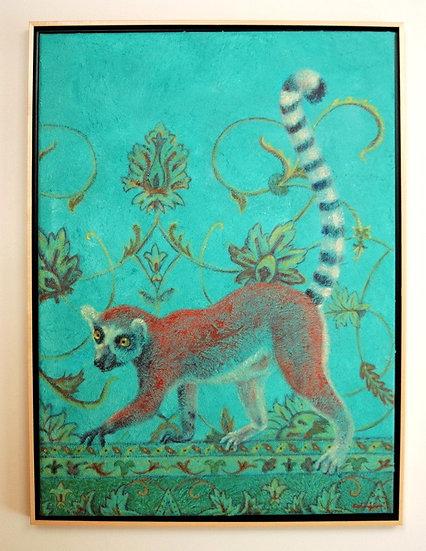 "Lemur Lost in a Persian Jungle - 23"" x 31"""