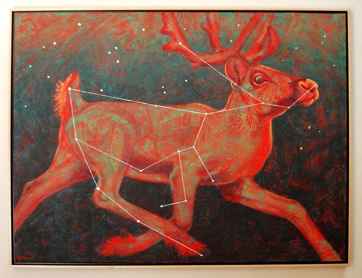 """Radiant Reindeer (lost constellation Rangifer) - 31"""" x 41"""""""