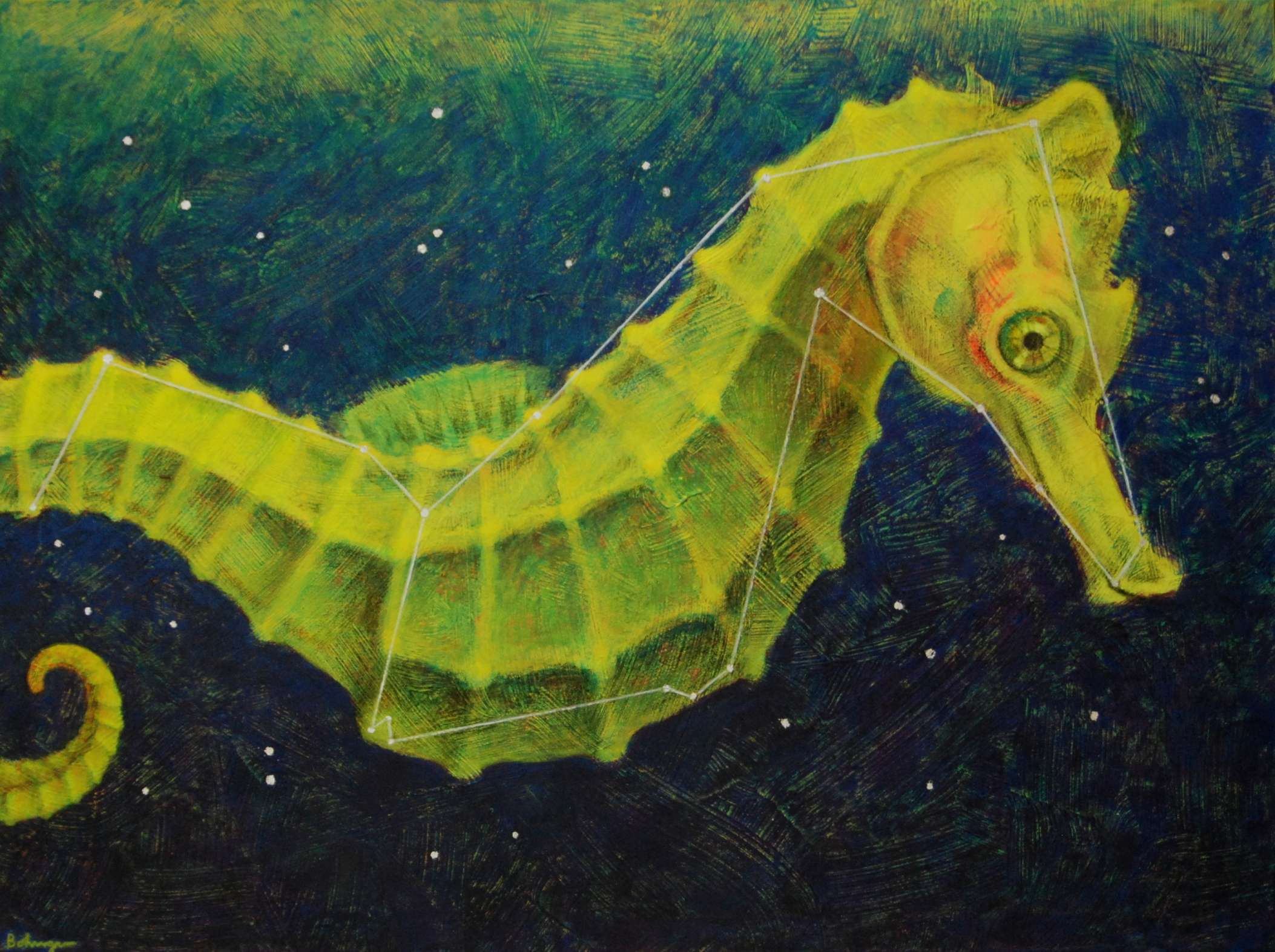 Space Seahorse (constellation Hippocampu