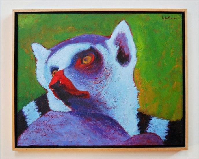 """Lemur la Vida - 17"""" x 21"""""""