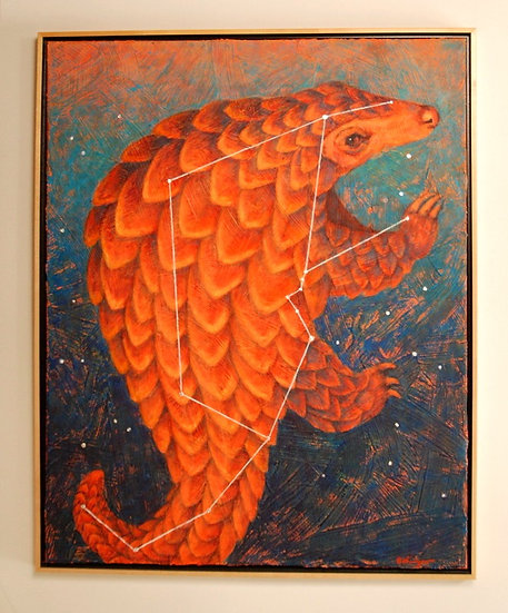"Pulsar Pangolin (constellation Manis) - 25"" x 31"""
