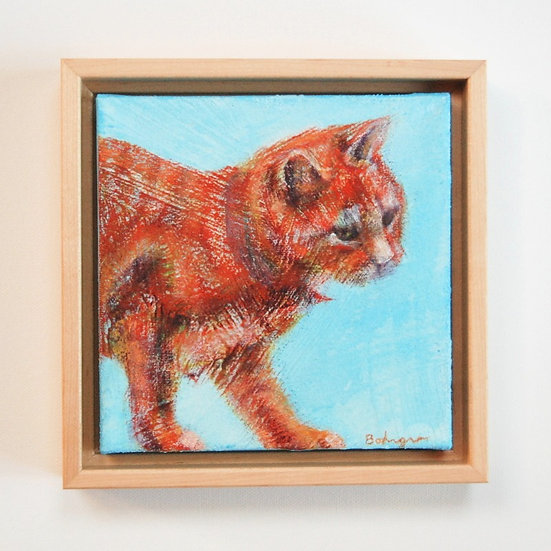 """Cat on a Fence - 7"""" x 7"""""""