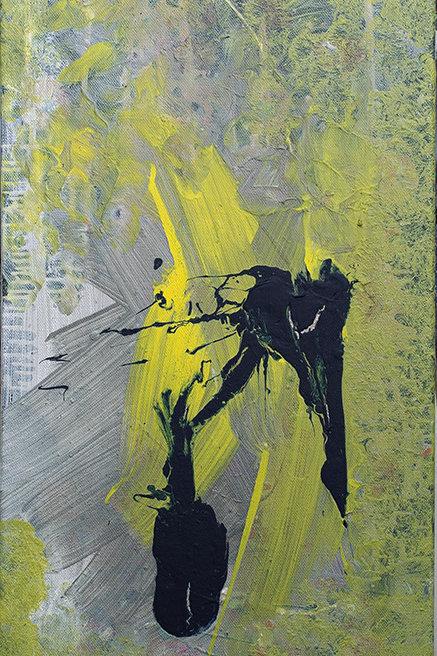 Astratto giallo