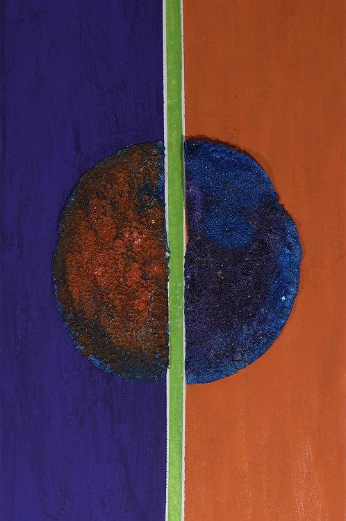 Yin & Yang a modo mio, arancio viola