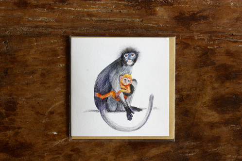 Monkey greeting cards high quality 140 x 140 mm greeting bank greeting card on 300 gsm paper m4hsunfo