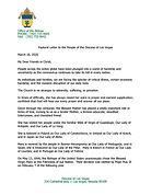 Bishop Thomas Pastoral Letter re Corona