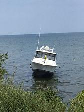 Boat on the rocks oakville
