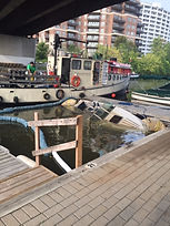refloating sunk boat, ontario, oakville, hamilton, stoney creek