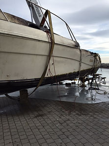 Rinker out of the water after sinking