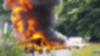 carver boat fire, oakville, ontaro, canada