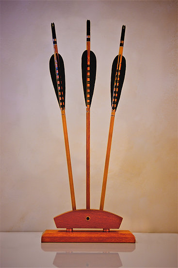 Crested Arrow Trio Black / Gold