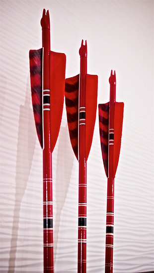 Crested Arrows - Red