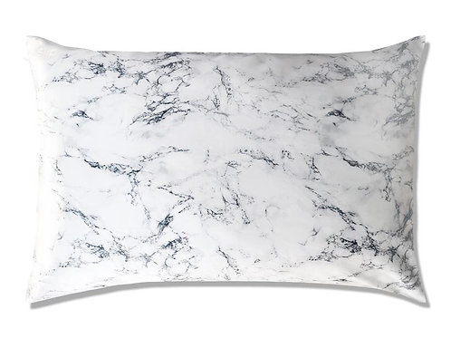 MARBLE EFFECT SATIN PILLOWCASE