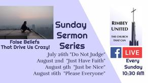 Sunday Service FB Live  2020-08-16