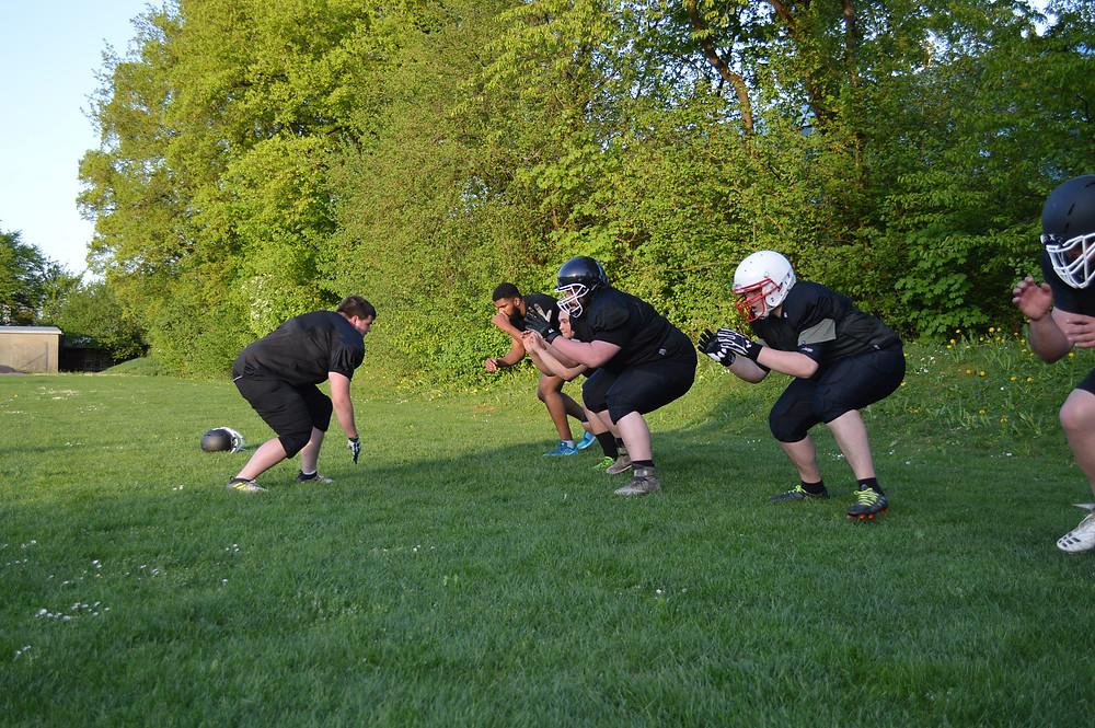 Solothurn Ducks American Football Training Linemen