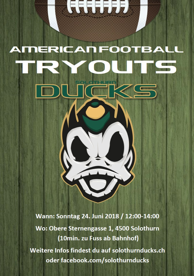 American Football Solothurn Ducks Tryout