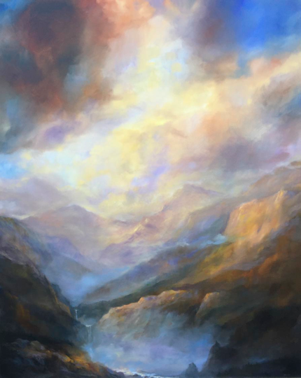 """A Walk Through the Mountains and Mist"" 64"" X 80"""