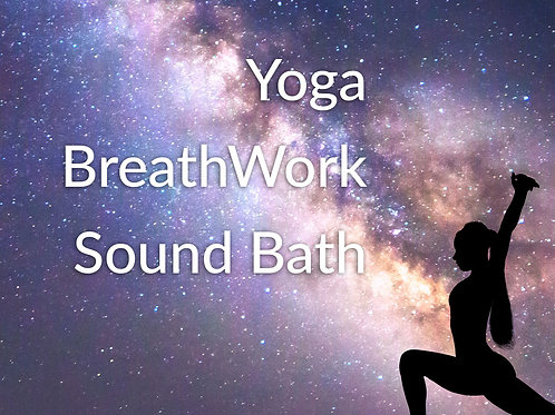 Yoga + BreathWork + Sound Healing
