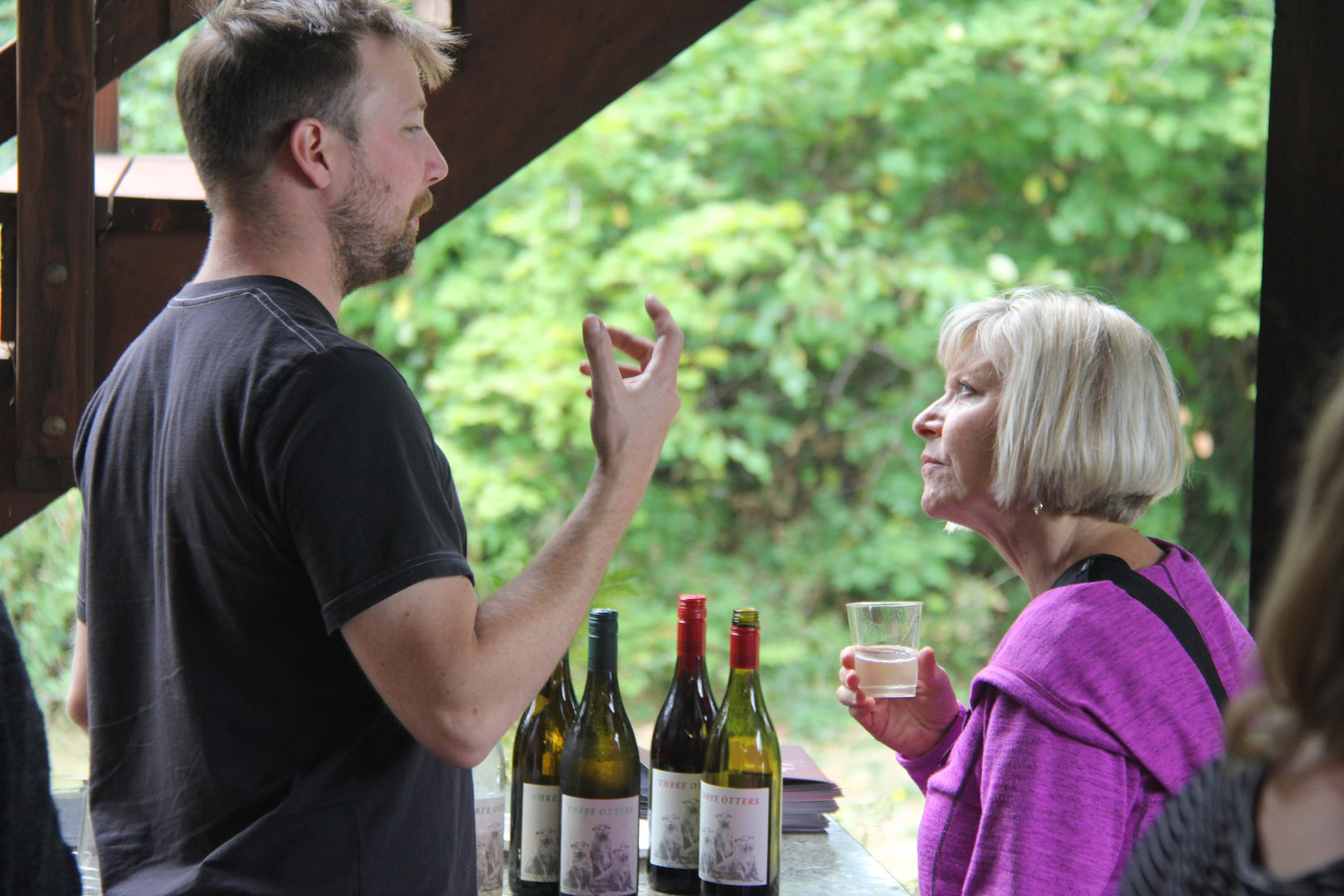 Winemaker Alex Fullerton at our Open House