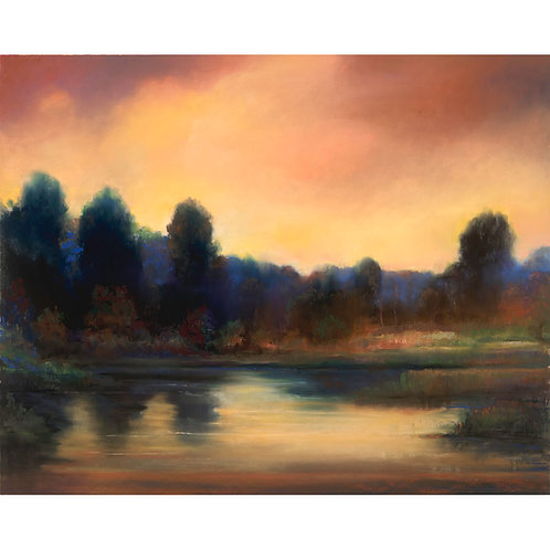 """Golden Hour on Still Waters"" Limited Edition Prin"