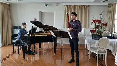 Juan Ruiz Bandoux (basson) et Ezequiel (piano) à l'EHPAD Duquesne, 10 mars 2021