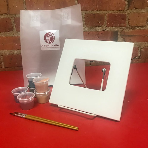 """7"""" square frame with glass and backing"""