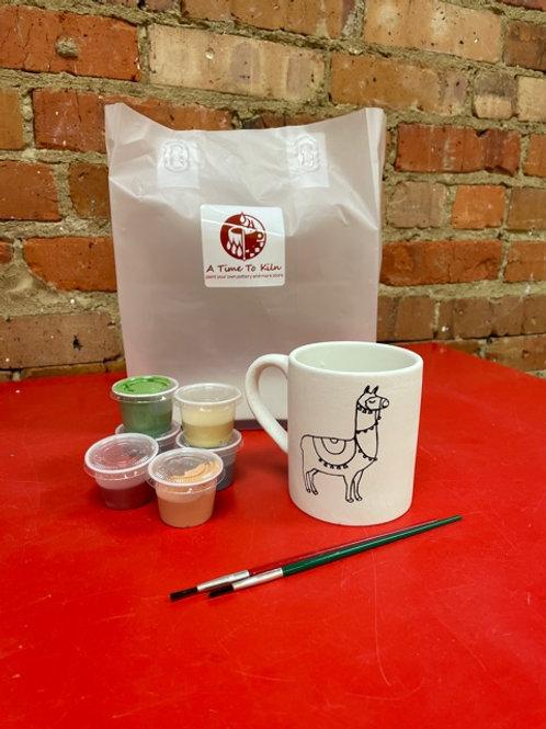 llama picture mug