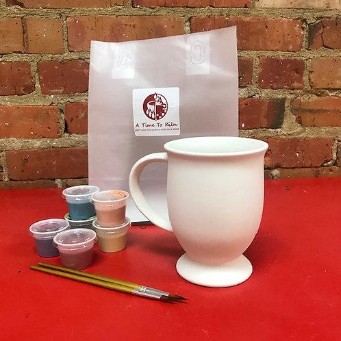 large pedestal mug