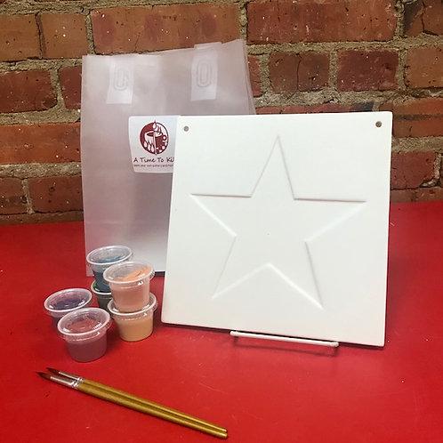 """8"""" square star plaque"""