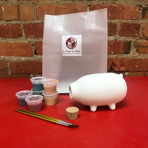 pig bank with cork
