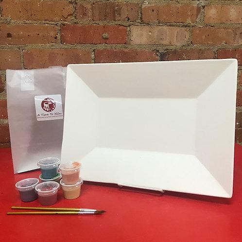 14x10 rectangle platter