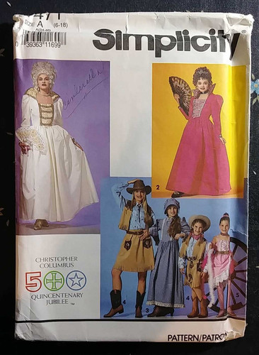 ad70a4c2d19 Simplicity 7471 Women s Miss Girls Teens Antoinette Historical Costume  Pattern