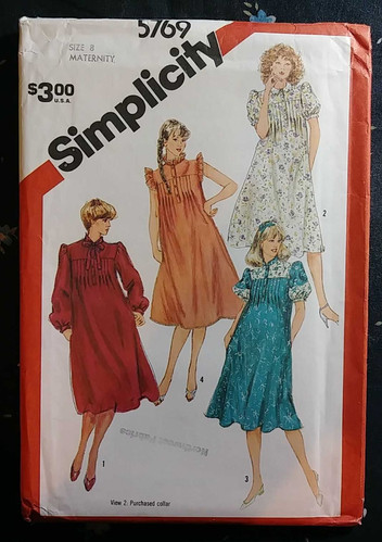 b7d833eabec Simplicity 5769 Women s Miss Maternity Pullover Dress Vintage Sewing Pattern