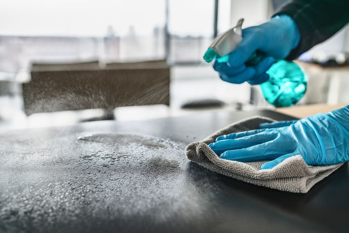 Sanitizing surfaces cleaning home kitche