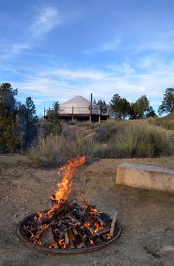 Bon Fire Pit South of the Yurt