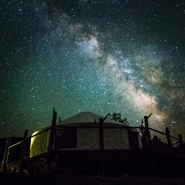 The Yurt & our Milky Way